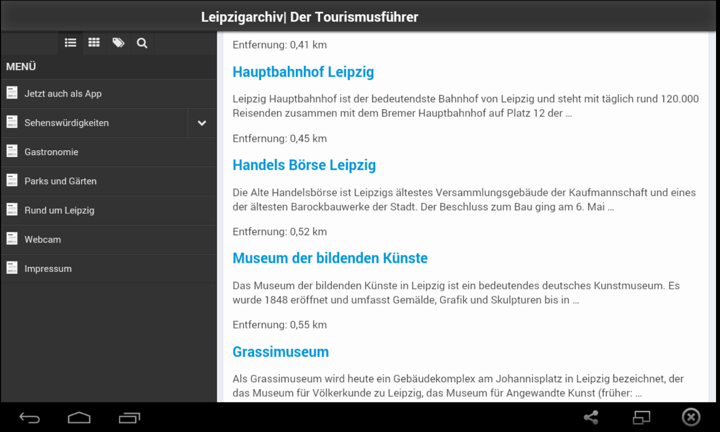 LeipzgTouriApp- screenshot