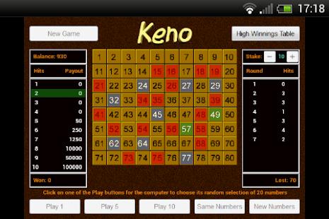 Keno Cheats