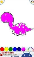 Screenshot of Dinosaurs Coloring Book
