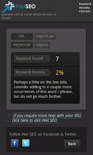 Keyword Density Checker (SEO) - screenshot thumbnail