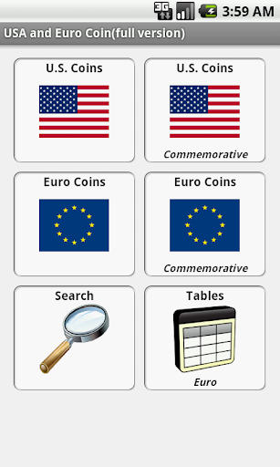 USA and Euro Coins