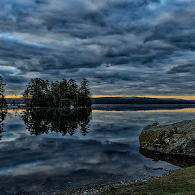 Alamoosook Lake by Tom Whitney - Landscapes Weather ( canon, alamoosook, environment, maine, 35mm, ze, t*, zeiss, lake, 2/35, 6d, distagon,  )
