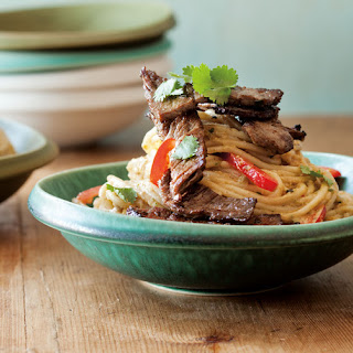 Chinese-Style Peanut Noodles with Seared Beef