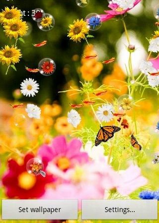 Flowers Live Wallpaper screenshot