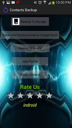 CONTACTS BACKUP FREE