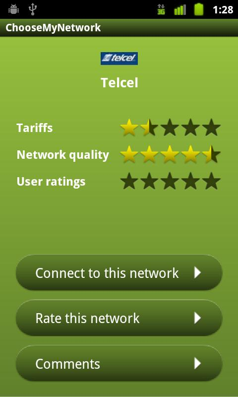 Choose My Network - screenshot