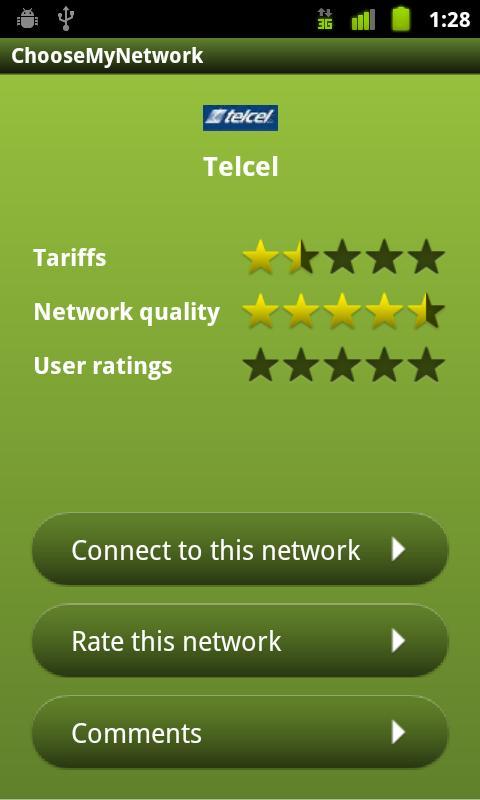 Choose My Network - screenshot