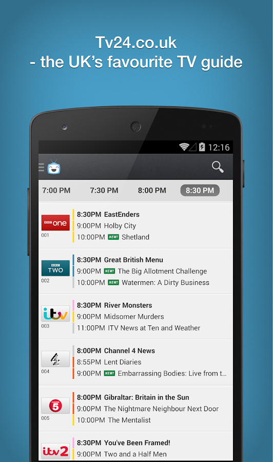 Tv24.co.uk TV Guide - screenshot