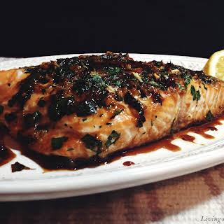 Asian Style Marinated Salmon Filet.