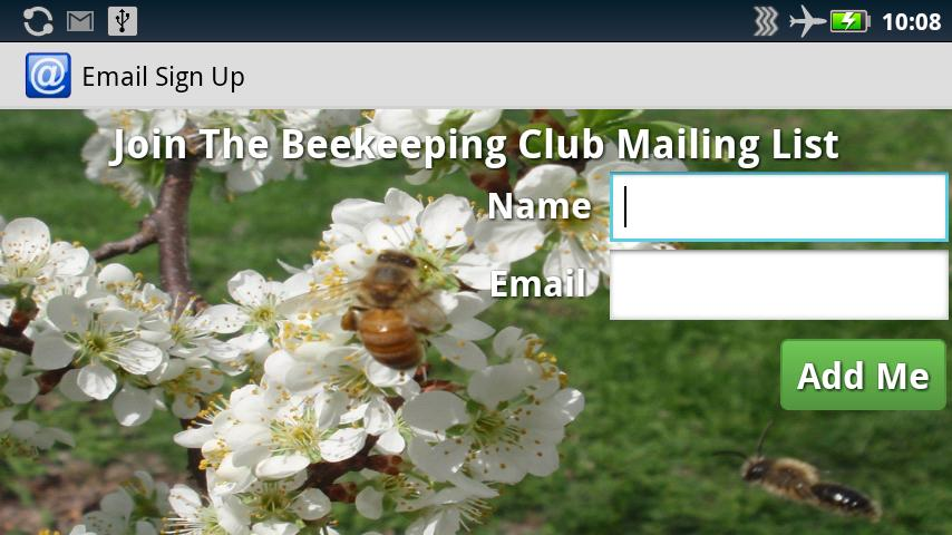 Email Sign Up - screenshot