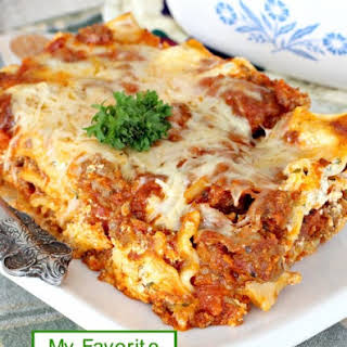 My Favorite Lasagna.