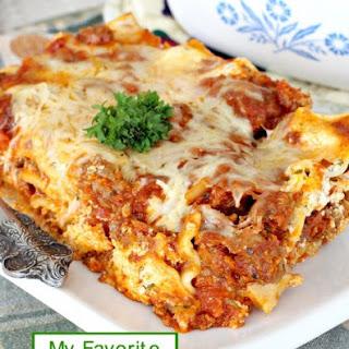 My Favorite Lasagna.