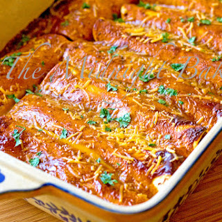 Chicken and Garbanzo Enchiladas