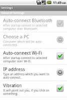 Screenshot of Bluetooth Remote PC