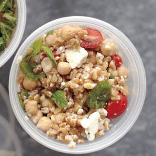 Farro, Chickpea, Feta, and Mint Salad