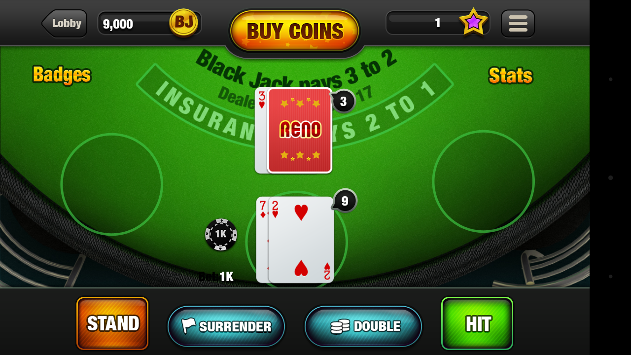 About our free Blackjack game