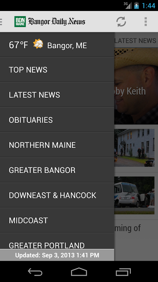 Bangor Daily News - screenshot
