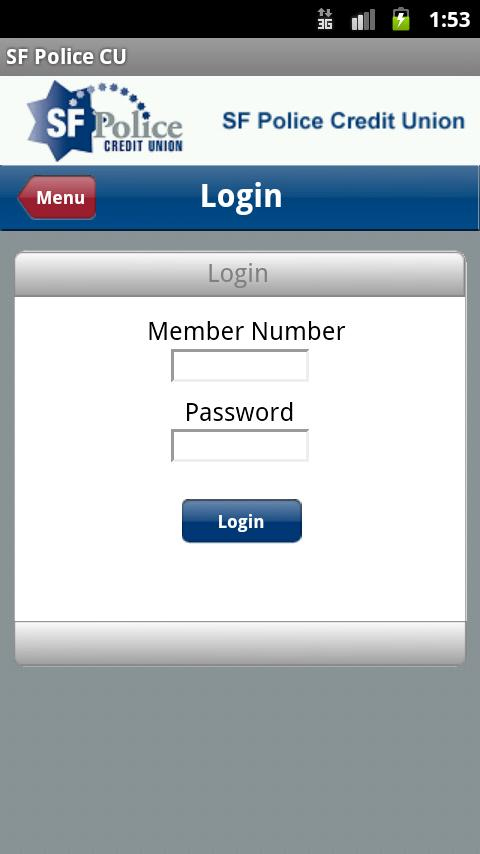 SF Police CU Mobile Banking - screenshot