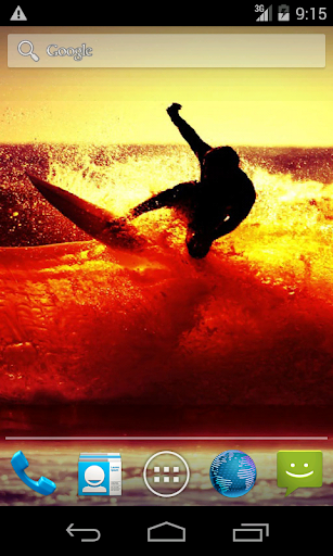 【免費個人化App】Sunset Surfing. Live Wallpaper-APP點子