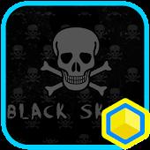 Mr.Black Skull 카카오홈 테마