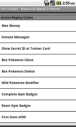 Pro Cheats Pokemon Black 2 Edn