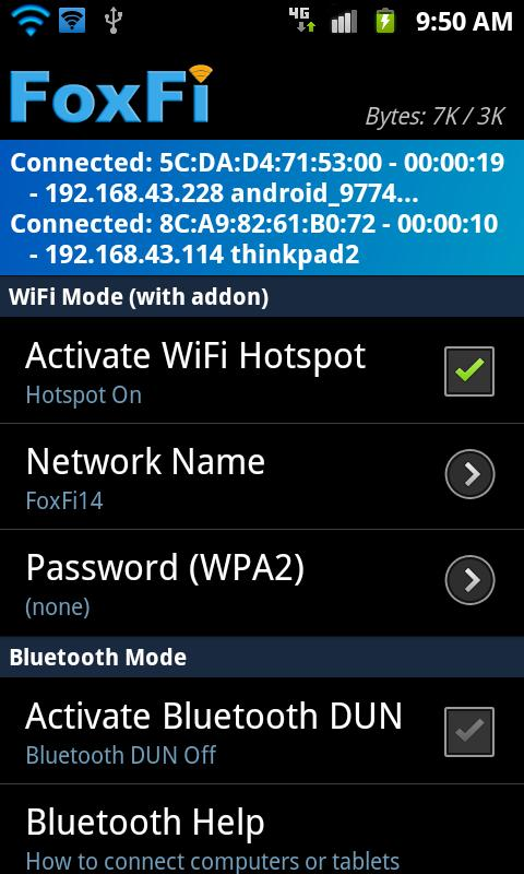FoxFi (Sprint/AT&T only) - screenshot