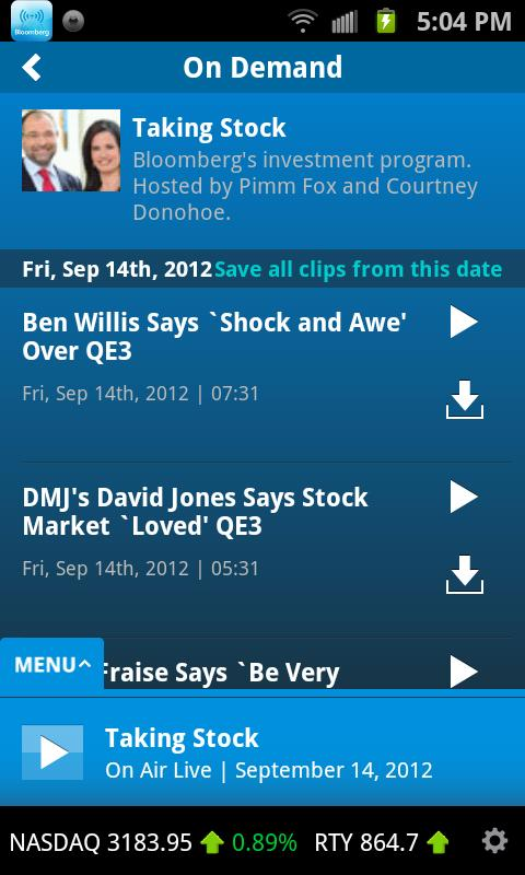 Bloomberg Radio+ - screenshot