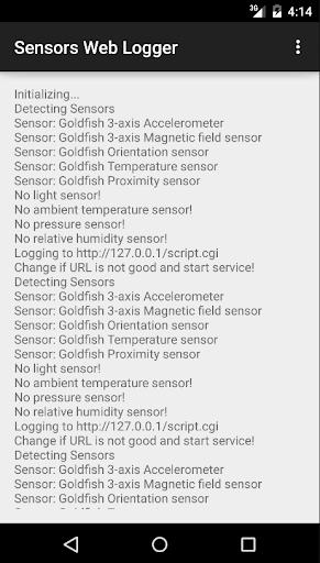 Sensors Web Logger