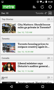 Metro News Canada - screenshot thumbnail