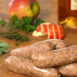 Chicken, Apple, and Calvados Sausage