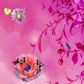 Butterflies & Flower Wallpaper