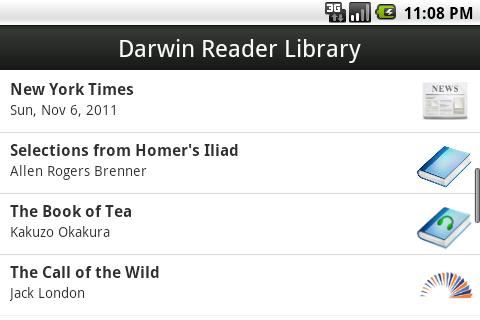Darwin Reader Trial - screenshot