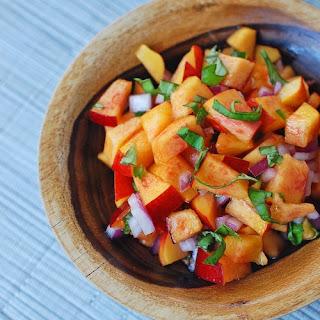 Nectarine Basil Salsa.