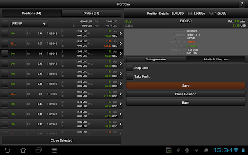 FXOpen TickTrader for Android - screenshot thumbnail