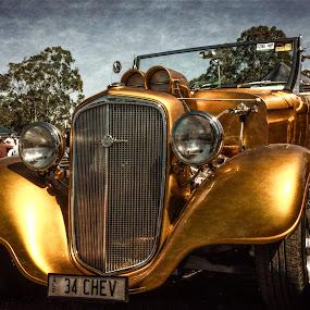 Golden Beauty by Esther Visser - Transportation Automobiles ( , color, colors, landscape, portrait, object, filter forge )