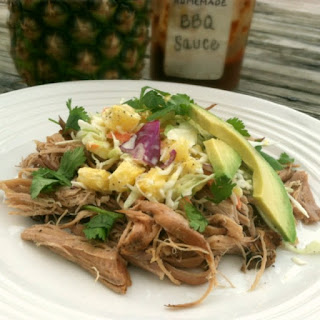 Slow Cooker Chipotle Pork with Pineapple Coleslaw.