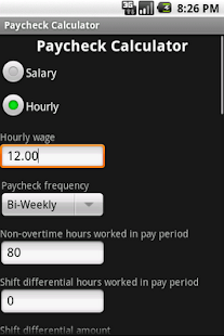 Paycheck Calculator - screenshot thumbnail