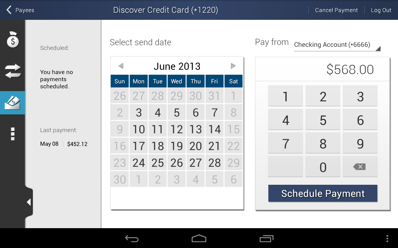 Central Bank Mobile Banking - screenshot