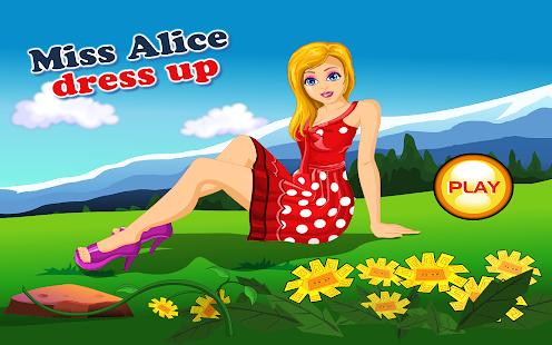Miss Alice Dress Up - screenshot thumbnail