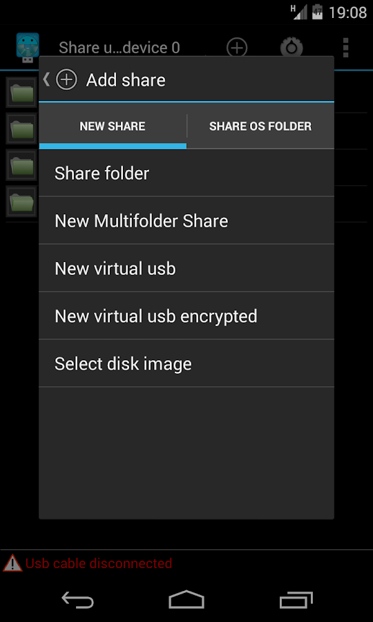 Usb Share [Root] - screenshot