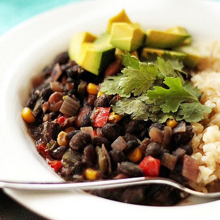 Cuban Black Bean Stew with Rice Recipe