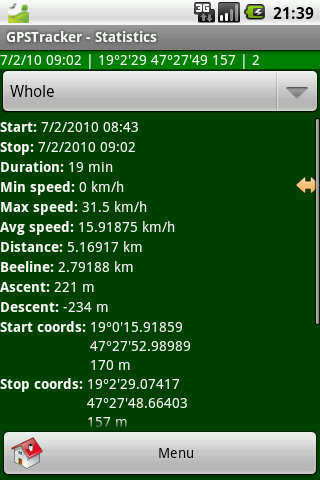 GPSTracker Lite - screenshot