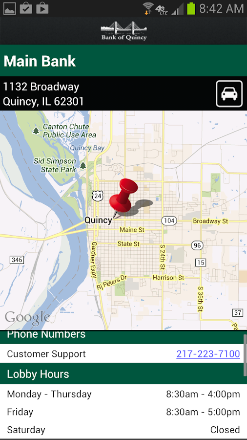 Bank of Quincy - screenshot