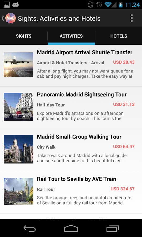 Holidayen Madrid Guide- screenshot