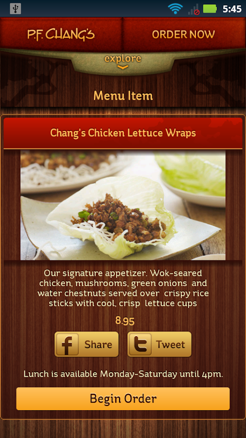 P.F. Chang's - screenshot