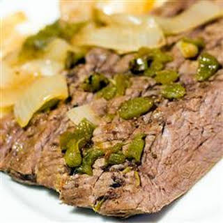 Slow-Cooked Flank Steak.