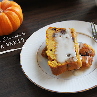 Pumpkin Chocolate Tea Bread for #BreadBakers