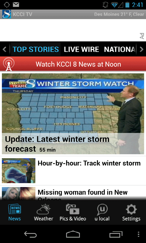 KCCI 8 News and Weather - screenshot