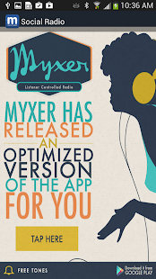 Myxer Social Radio - screenshot thumbnail