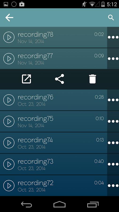 Συσκευή Εγγραφής Φωνής - στιγμιότυπο οθόνης